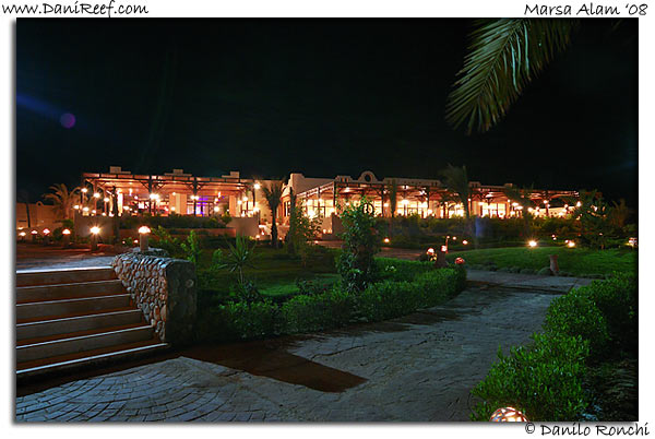 Holiday Beach Resort by Night