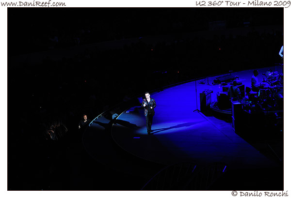 U2 360° Tour Milano 2009 -Bono Vox - The Edge - Larry Mullen jr. - Adam Clayton