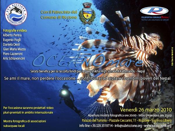 Riccione: venerdì 26 marzo manifestazione benefica OCEANOmare