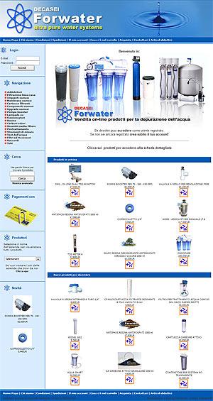 Il sito FORWATER di Decasei