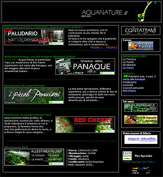 Aquanature Web Site