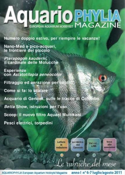 La copertina di Acquariophylia.it