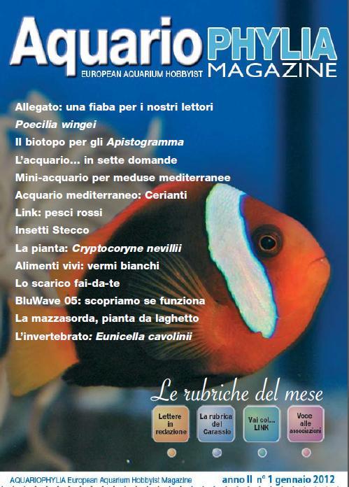 Aquariophylia.it, la rivista free online esce col primo numero del 2012