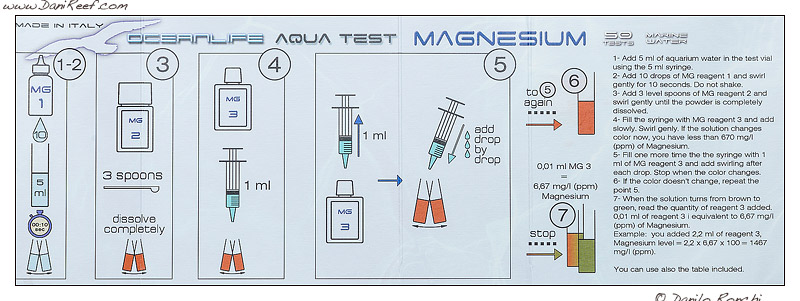 Oceanlife test kit magnesio