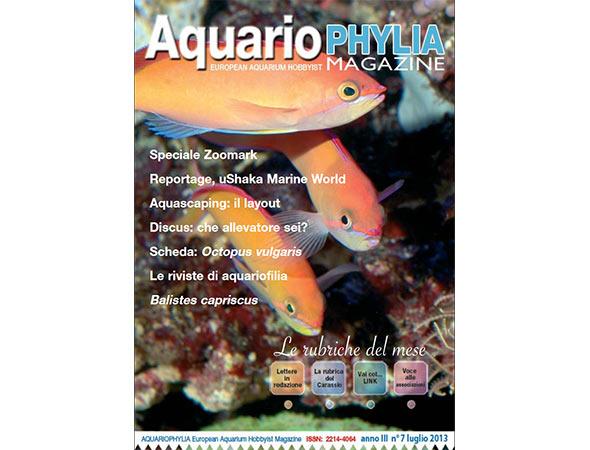 Disponibile il numero 7 della rivista gratuita Aquariophylia