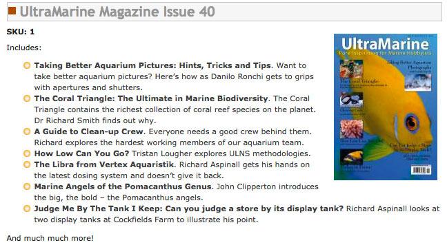 La pubblicazione UltraMarine Magazine n.40 esce questo mese con un articolo di Danilo Ronchi