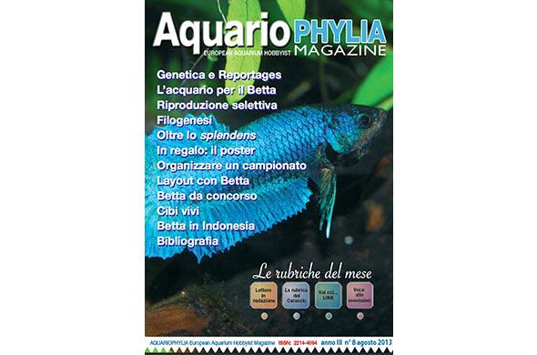 Online il numero 8 della rivista gratuita Aquariophylia
