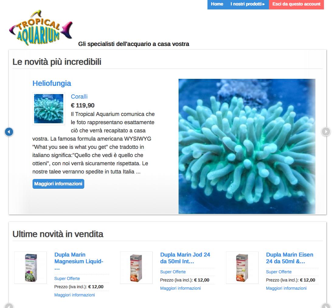 tropical acquarium olbia