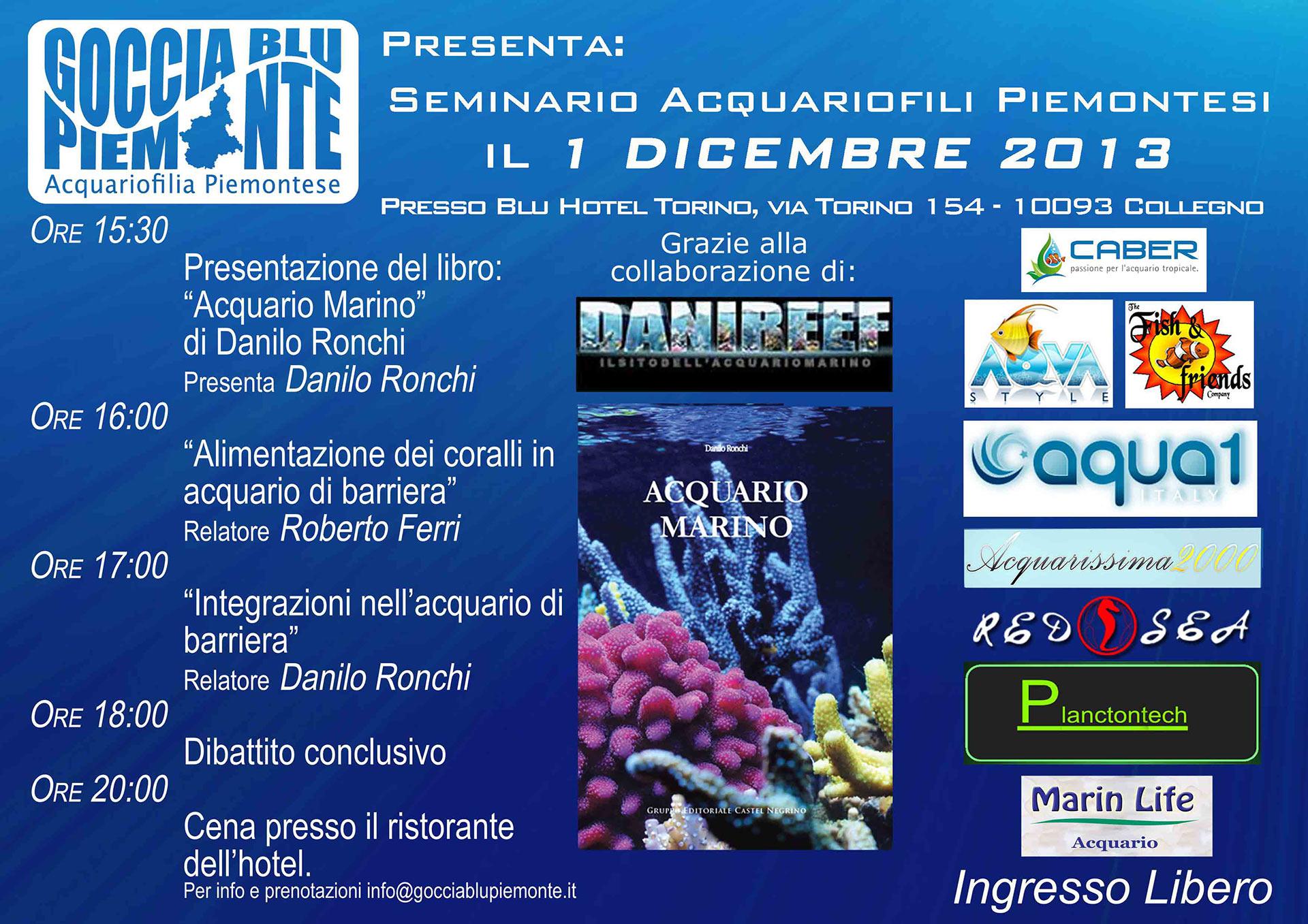 seminario acquariofili piemontesi a torino presentazione libro acquario marino