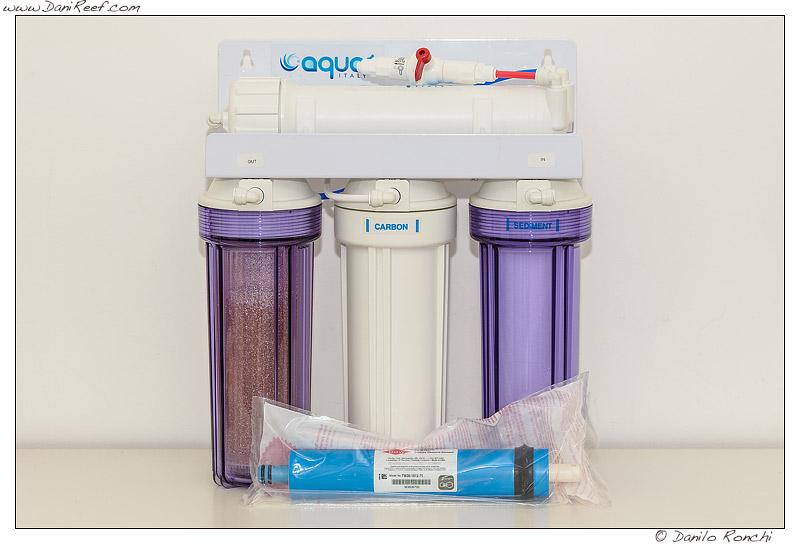 Impianto osmosi inversa per acquario Aqua1