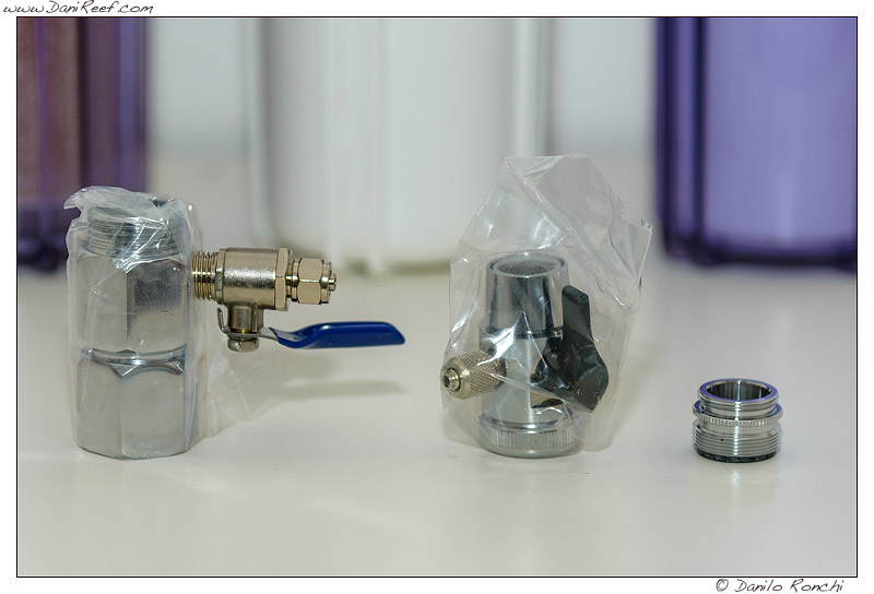 accessori idraulici compresi nell'impianto ad osmosi inversa AQUA1 75SX - anteprima