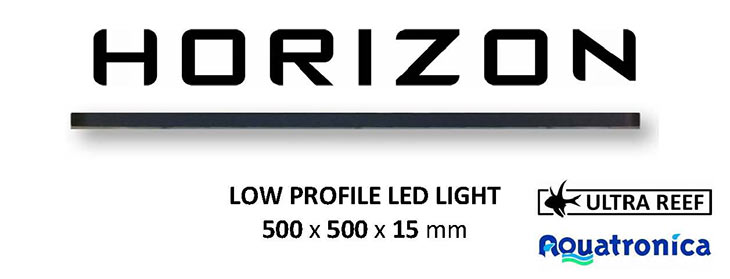 Horizon plafoniera led collaborazione aquatronica ultrareef