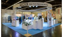 Interzoo 2014: Tunze booth with the new pumps 6020 and 6040 and the new magnet