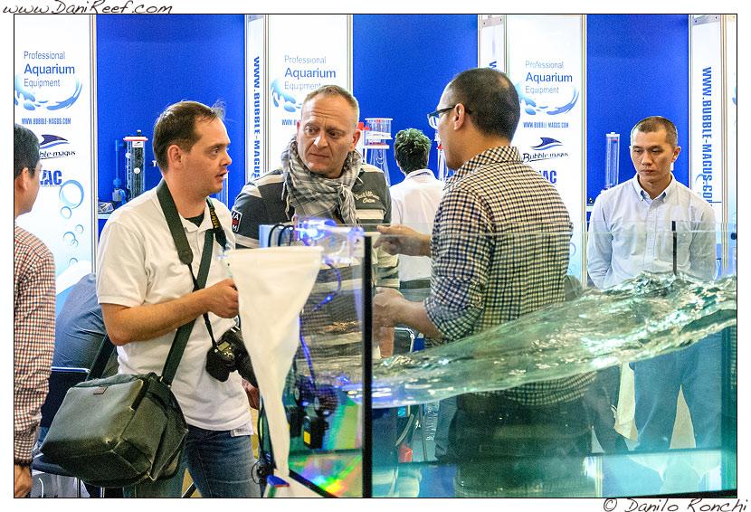 Lo stand Bubble Magus durante la fiera Interzoo di Norimberga 2014