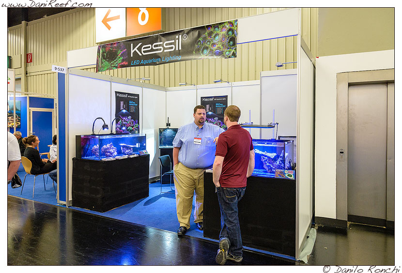 Lo stand Kessil All'Interzoo 2014