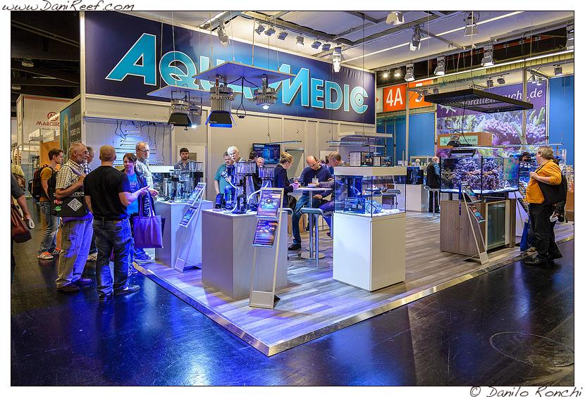Lo stand AquaMedic presso la fiera interzoo di norimberga 2014