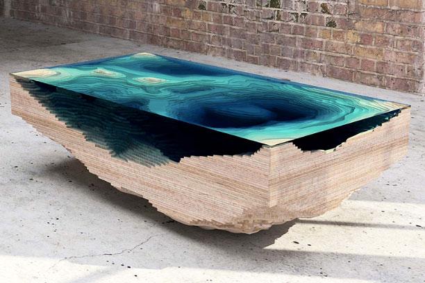Abyss Table - il tavolino delle profondità - by Duffy London