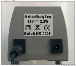Dettaglio retro pompa dosometrica Aqua1