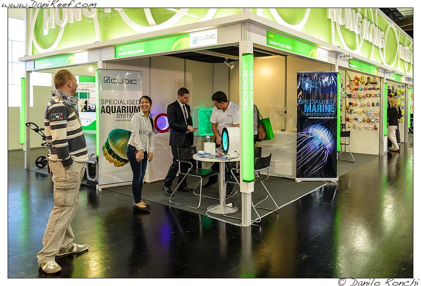 Lo stand CubicAquarium presso la fiera Interzoo 2014 di Norimberga