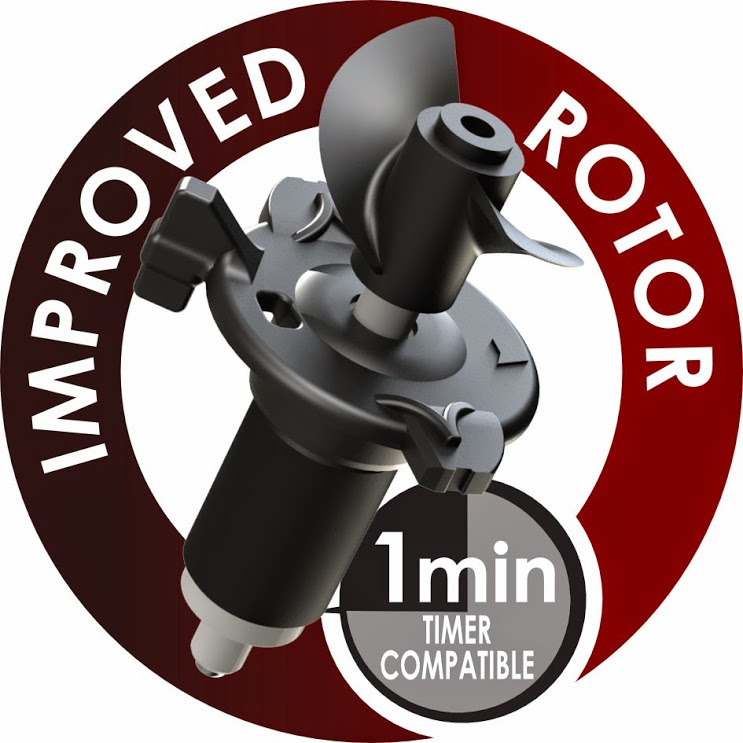 Improved rotor Mover M Series - 1 minute timer compatible