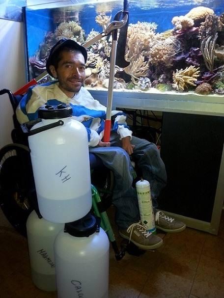 L'acquario di Flavio Emer, affetto da SMA