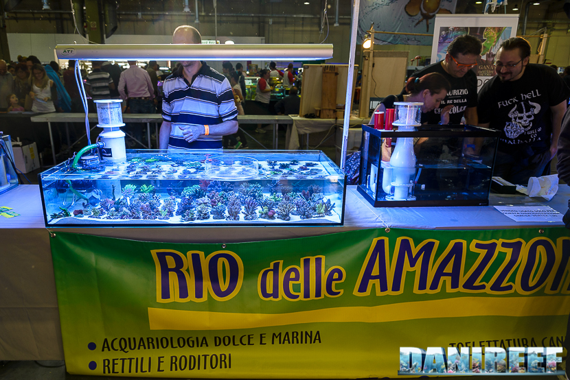 Lo stand rio delle amazzoni presso il Piacenza PetsFestival 2014