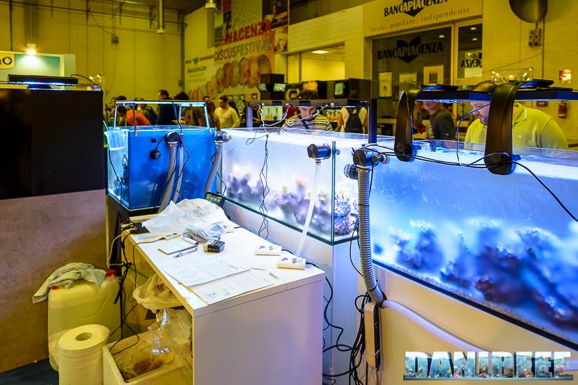 Plafoniere Ecotech Marine Radion nello stand Reefline al petsfestival 2014