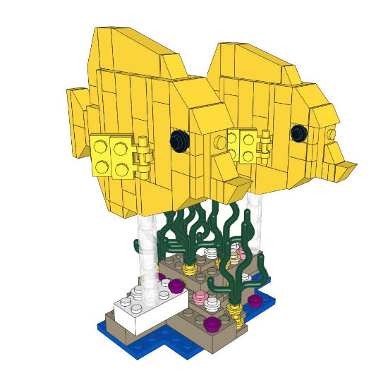 zebrasoma flavescens di lego