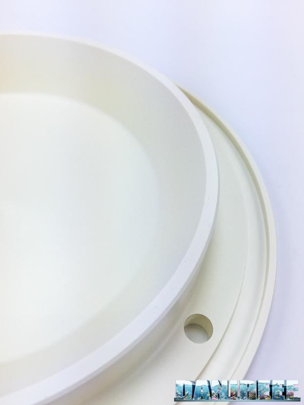 schiumatoio ultrareef akula UKS-180 nuovo modello a corpo conico - particolare del coperchio