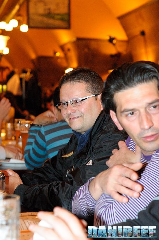 L'amico Maurizio Gana alla cena che facemmo durante l'Interzoo 2010 a Norimberga