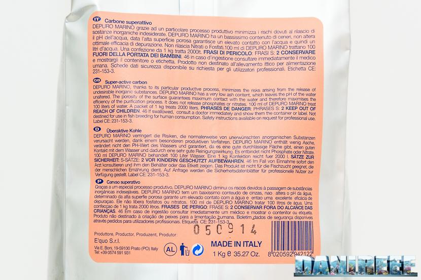 carbone attivo equo Depuro Marino - confezione da 1kg