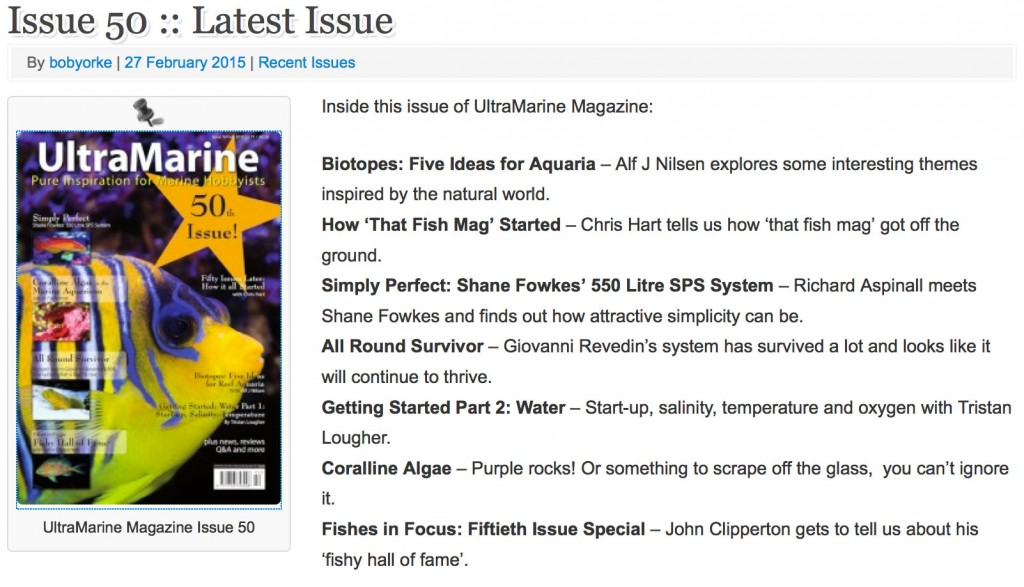 UltraMarine Magazine 50 contenuti