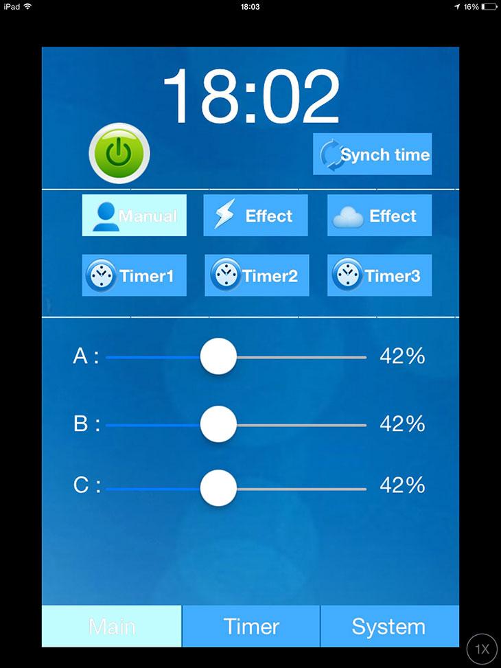 plafoniera led oceanled sunrise 600 - programmazione con iPad