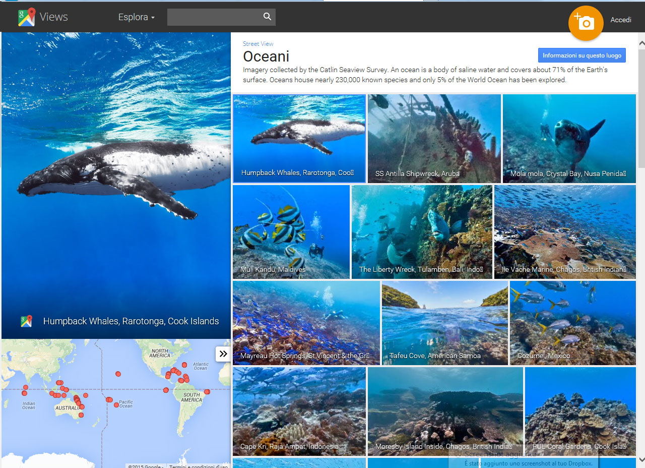 ocean street view by google