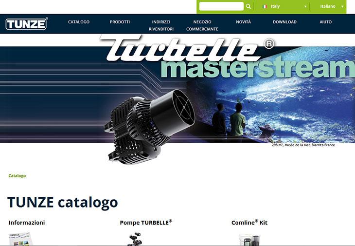 nuovo sito tunze