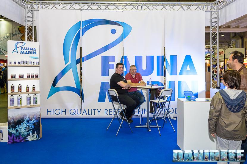 Claude Schuhmacher, a destra, e Gabriele Margoni allo stand Fauna Marin