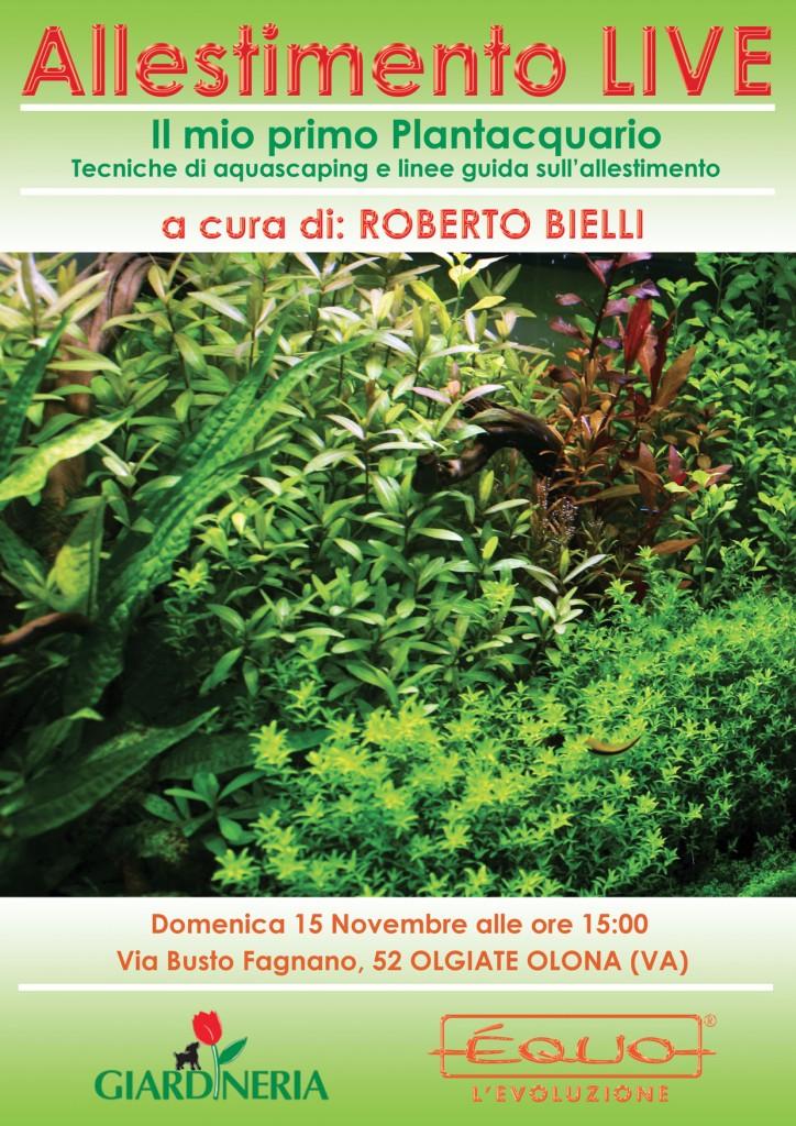 Allestimento Live a Olgiate Olona con Roberto BIelli e Equo