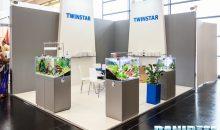 Interzoo 2016: lo stand Twinstar con i suoi reattori ed il prototipo di plafoniera led