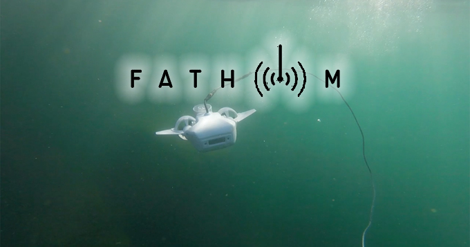 fathom drone subacqueo