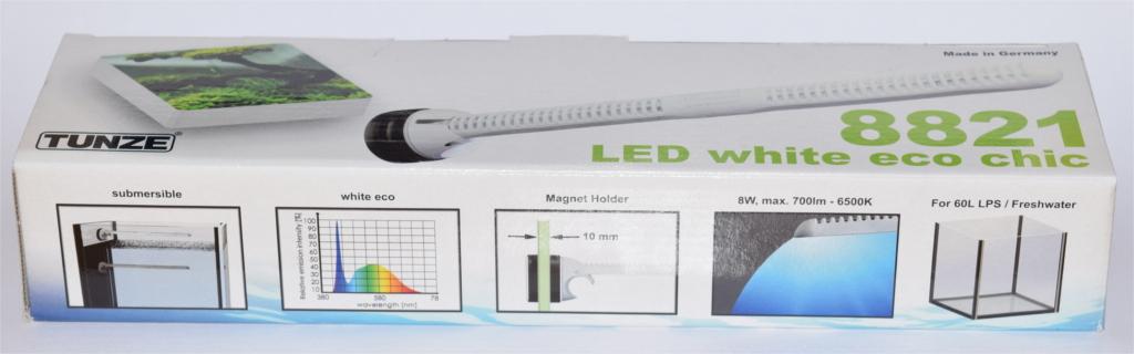 Il packaging delle Tunze Eco Chic si presenta di dimensioni ridotte ma contiene moltissime informazioni.