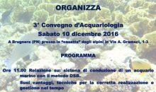 3° Convegno Acquariologia Marina a Pordenone il 10 dicembre 2016