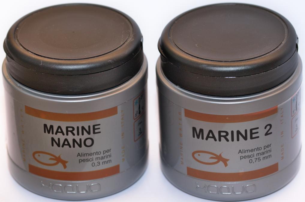 Alimento per pesci marini Xaqua Marine Nano e Marine 2