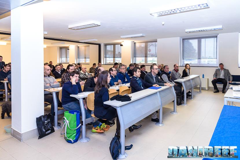 La moderna aula didattica nella sede italiana di Sicce S.r.l., che ha ospitato l'Open House.