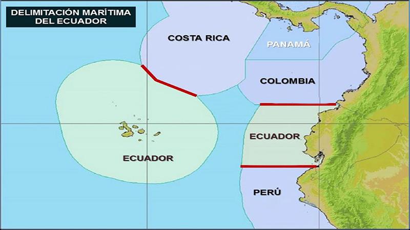 confini marittimi comuni tra Ecuador e Costa Rica. Fonte: Ministerio de Relaciones Exteriores y Movilidad Humana