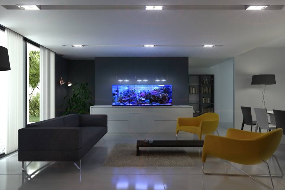 Plafoniera a led GNC BluRay - acquario in ambiente