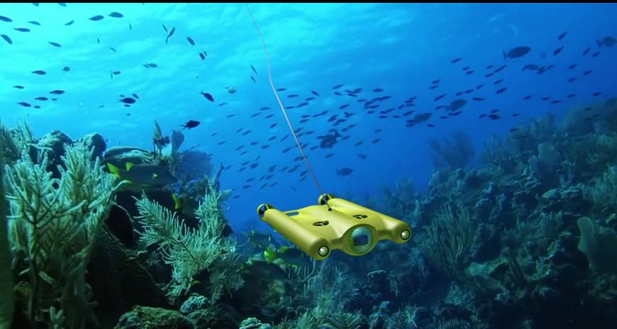 Gladius ultra hd - drone immerso nel mare