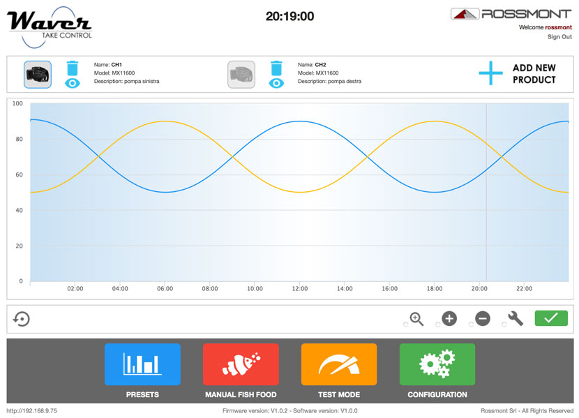rossmont waver controller AIO - programming