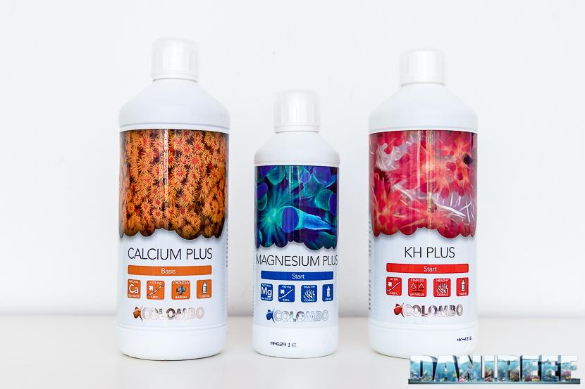 Falconi di integratori Colombo di Calcio, Magnesio e Kh per acquari marini