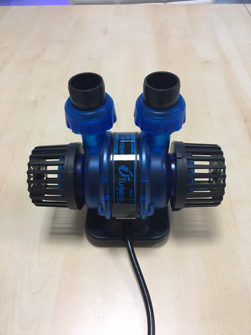 Maxspect Turbine Duo pumo in its fancy electric blue scheme. Photo courtesy of Maxspect.
