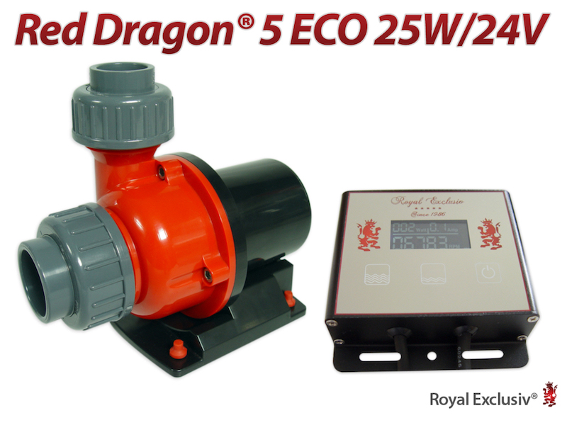 Red Dragon 5 Eco 25 watt - pompa e controller